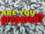 The question Are You Prepared? on a background of question marks
